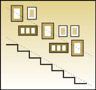 A Properly Hung Staircase Display Is Quite Appealing!